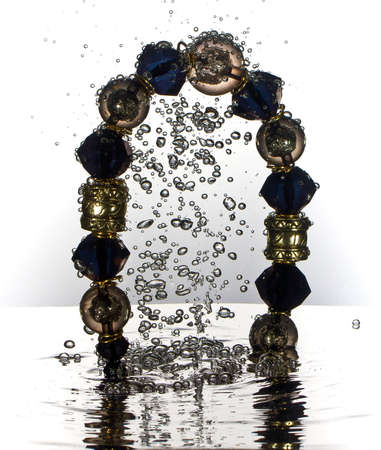 Necklace water splash, jewelry photo
