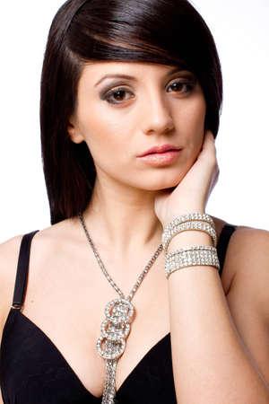 Beautiful fashion model portrait with jewelry Stock Photo - 12301015