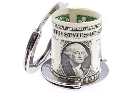 US Dollar, money, banknotes, currency, nadcuffs, crime Stock Photo - 13769440