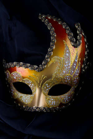 Venecian mask, gold and red, carnival, venice photo