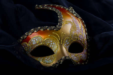 venecian: Venecian mask, gold and red, carnival, venice
