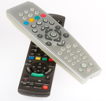 vcr: Remore control from TV, VCR, DVD, close up