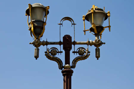 streetlamp: historical monuments and building in Bucharest