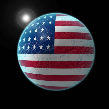 americal: Americal flag covering the earth