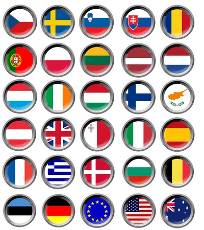 europeans: All EU flags in buttons