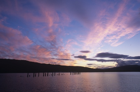 loch lomond: Loch Lomond,Luss Stock Photo