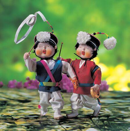 korean traditional: Puppet Stock Photo