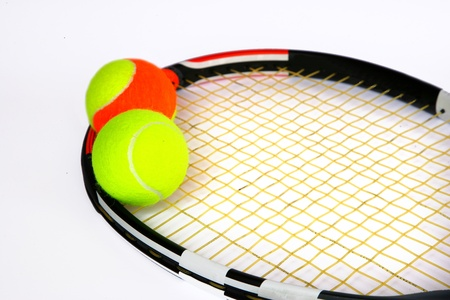 tennis racket: Tennis racket and tennis ball