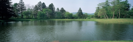 Panoramic of waterscape photo