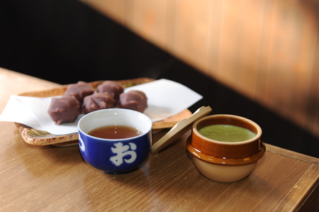 Soup and balls on the table Stock Photo