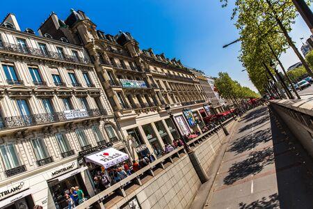 elysees: Champs Elysees Ave, Paris, France Editorial