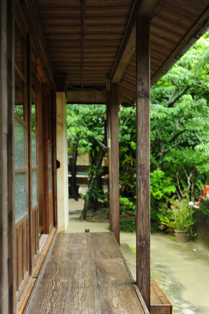 Kunigami-gun Bise Ryukyu old houses chan Japan Editorial