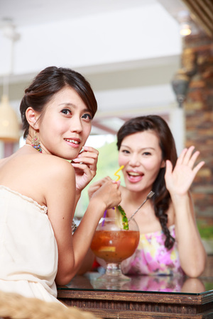Portrait Of Asian Young Woman Stock Photo