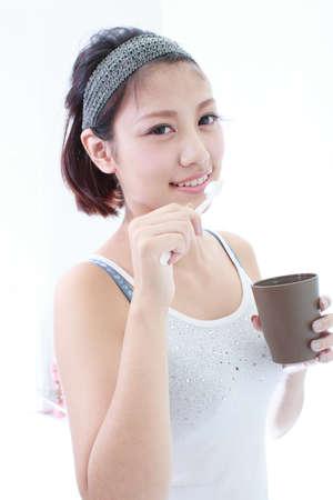 indoor shot: Portrait of Asian woman Stock Photo
