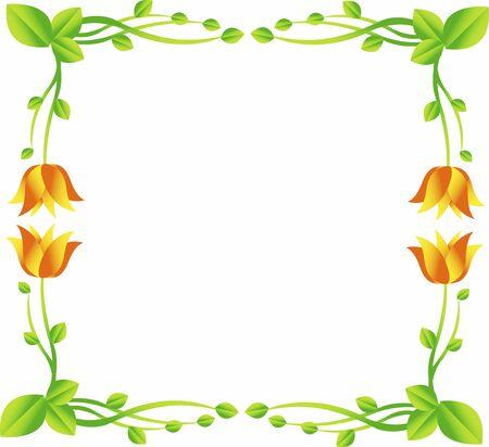 compass rose: flower frame