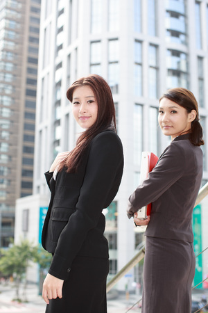 Two Asian young girls Stock Photo