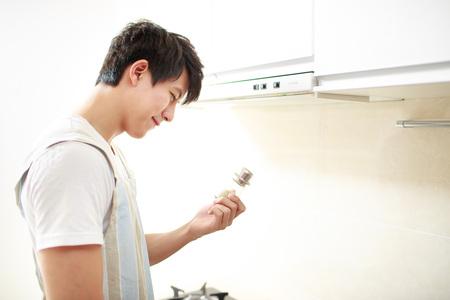 side shot: Asian Young Man