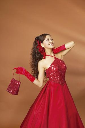 Young woman wearing Wedding Dress Stock Photo