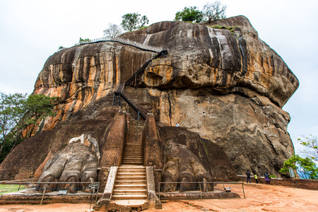 Lion rock, Sigiriya, Sri Lanka Imagens