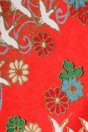 Wallpaper in Japanese style Stock Photo