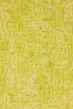 still lifes: Yellow wallpaper with Chinese characters