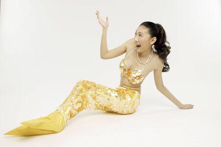 seamaid: Young woman wearing sea-maid clothes