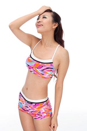Portrait of young woman wearing Bikini