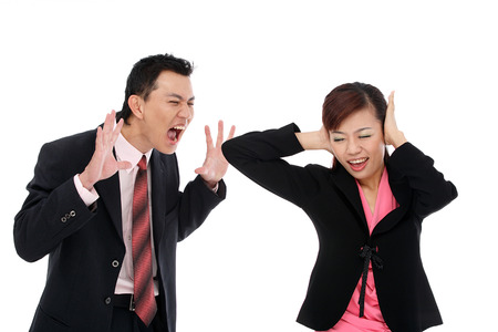 bawl: Portrait of adult couple Stock Photo