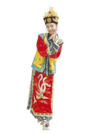 Portrait of young woman in traditional costume