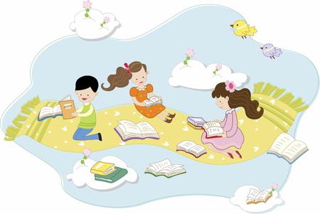 本を読む学生の概念