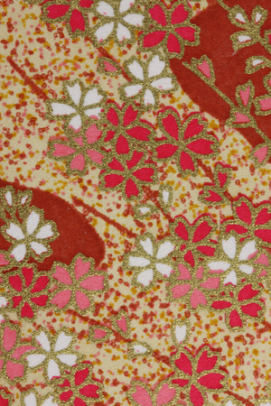 in full bloom: Wallpaper in Japanese style  Stock Photo