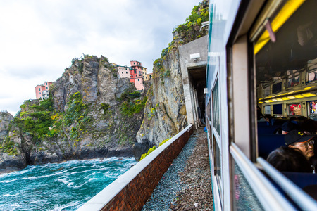 train road at Cinque Terre, Italy