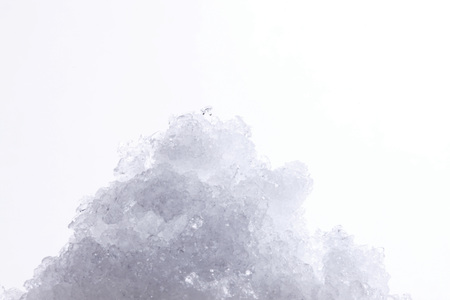 Shaved ice on white background