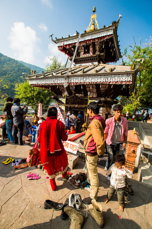 pokhara: people in Nepal Editorial