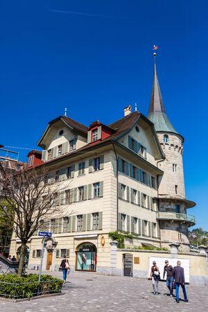 Luzern, Zwitserland straat