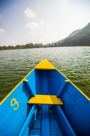 phewa: Boat at Phewa Lake, Pokhara, Nepal.