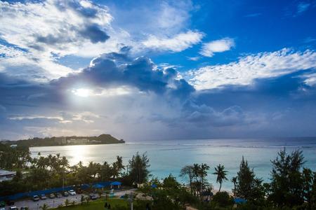 괌, 크라운 플라자 풍경 스톡 콘텐츠