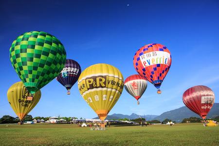 Luye hot air balloon,Taitung,Taiwan
