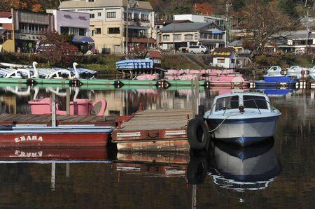 榛名湖、日本 報道画像