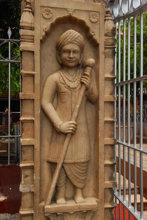 statue at Sri Digambar Jain Lal Mandir temple Stock Photo