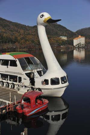 榛名湖、日本でアヒルのボート