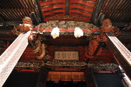 日本の伝統的な建築の建物の内部ビュー