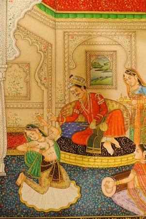 painting in Mewar Art Gallery & Rama Krishina Textile