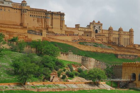 amber fort: Amber Fort landscape view Stock Photo