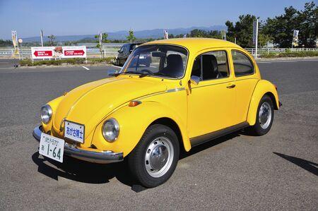 Volkswagen yellow beetle Editorial
