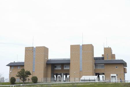 Exterior landscape view of a building