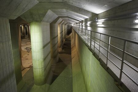 Underground view of a building site