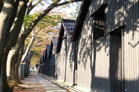 木の側に沿って建物の外観