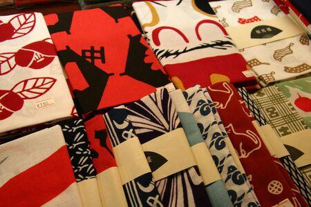 服の従来の日本の印刷