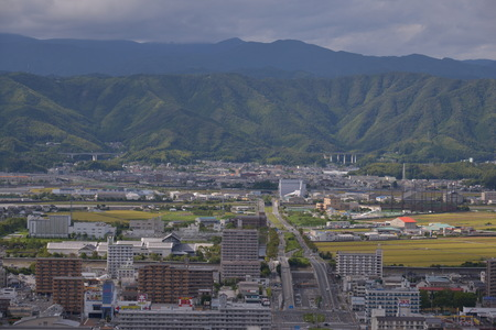 Landscape view of a city in Japan